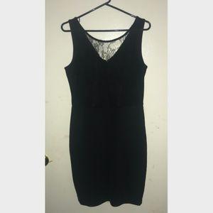 Metaphor Black Lace Mini Dress